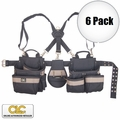Custom Leathercraft 1614 6pk Comfort Lift Combo Pouch System Polyester 5 pc