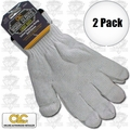 Custom Leathercraft 2000 2pk String Knit Glove Liner