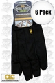 Custom Leathercraft 2011 6pk 9oz Black Jersey Work Gloves