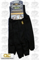 Custom Leathercraft 2011 Black Jersey Work Gloves