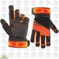 Custom Leathercraft L145 1pr Safety Viz Pro Illuminated Work Gloves X-Large