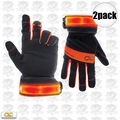 Custom Leathercraft L205 2pk Safety Viz Illuminated Work Gloves - Large