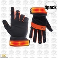Custom Leathercraft L205 4pr Safety Viz Illuminated Work Gloves - Large