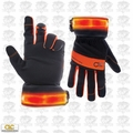 Custom Leathercraft L205-L Safety Viz Illuminated Work Gloves - Large