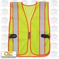 Custom Leathercraft SV08 Safety Vest ANSI Class 2 Lime-Yellow