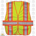 Custom Leathercraft SV28X1 Expandable L-2XL Safety Vest ANSI Class 2