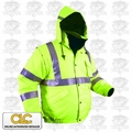 Custom Leathercraft WG40L Hi-Viz ANSI-Rated 5-In-1 Jacket