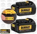"DeWalt DCB200-2 2 Pk Lith Ion Batteries ""Factory 2-Packs"" NIP"