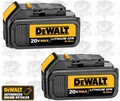 "DeWalt DCB200-2 20V MAX 2pk Lith Ion Batteries ""Factory 2-Packs"" NIP"
