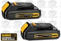 DeWalt DCB201-2 2 Pack Lithium Ion Compact Batteries