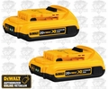 DeWalt DCB203 20V MAX* Compact XR 2.0ah Lithium Ion Battery
