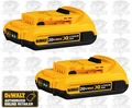 DeWalt DCB203 20V MAX* Compact XR 2.0 ah Lithium Ion Battery