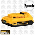 DeWalt DCB203 2pk 20V MAX* Compact XR 2.0 ah Lithium Ion Battery