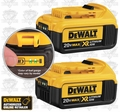 DeWalt DCB204-2 2 Pack XR 4.0 Amp Hour Lithium Ion Battery