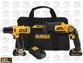DeWalt DCK212S2 Drill/Driver / Reciprocating Saw Combo Kit