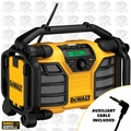 DeWalt DCR015 Radio + Charger + Aux Cable 12V/20V/120v MP3 AUX USB