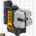 DeWalt DW089K 3 Beam Self-Leveling Line Laser Kit with Mount and Case