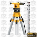 DeWalt DW090PK 20x Builders Level Package + Rod + Tripod