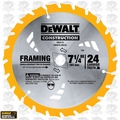 "DeWalt DW3578 7-1/4"" x 24 Tooth Framing Saw Carbide Circular Saw Blade"