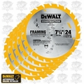 DeWalt DW3578 5pk Framing Saw Carbide Circular Saw Blade