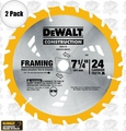 DeWalt DW3578 2pk Framing Saw Carbide Circular Saw Blade