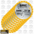 DeWalt DW3578 10pk Framing Saw Carbide Circular Saw Blade