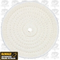 DeWalt DW4980 6'' Cotton Polishing Buffing Pad with 5/8'' arbor