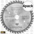 "DeWalt DW5258 4pk 6-1/2"" x 48 Tooth Blade for Corded Tracksaw"