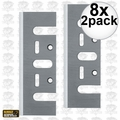 "DeWalt DW6655 8x 2pk 3-1/4"" High Speed Steel Planer Blades"