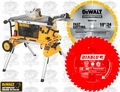 "DeWalt DW744XRS 10"" Job Site Table Saw Rolling Stand + Diablo D1040X"