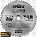 "DeWalt DW7766 7-1/4"" x 48 Tooth Ferrous Metal Cutting Blade"