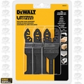 DeWalt DWA4215 3 Piece Oscillating Blade Set