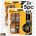 DeWalt DWA4216 2x 5pc Oscillating Blade Set