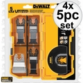 DeWalt DWA4216 4x 5pc Oscillating Blade Set