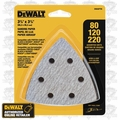 DeWalt DWASPTRI 12pk Hook and Loop Triangle Sandpaper Assortment