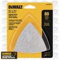 DeWalt DWASPTRI083 12pk Hook and Loop Triangle 80 Grit Sandpaper