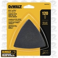 DeWalt DWASPTRI123 12pk Hook & Loop Triangle 120 Grit Sandpaper