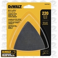 DeWalt DWASPTRI223 Hook & Loop Triangle 220 Grit Sandpaper