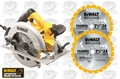 "DeWalt DWE575R 7-1/4"" Next Gen Circular Saw ""3"" Blade Kit"
