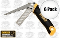 DeWalt DWHT20123 6pk Folding Rasp/Jab Saw cut drywall and plane edges