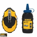 DeWalt DWHT47143 100' Chalk Reel + Blue Chalk