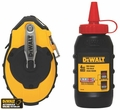 DeWalt DWHT47144 100' Chalk Reel + Red Chalk