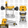 DeWalt DWP611PK 2 Bases (1-Plunge/1-Fixed) + 2 Router Motors Kit