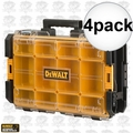 "DeWalt DWST08202 4pk 22"" Tough System Case with Clear Lid, Black"