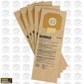 DeWalt DWV9401 1x 5pk Paper Dust bags for DWV012