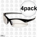 Edge Eyewear DZ111-1.5G2 4pk Black Clear Lens Zorge Safety Glasses 1.5x Mag