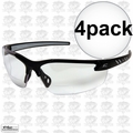 Edge Eyewear DZ111-G2 4pk Black Frame - Clear Lens Zorge G2 Safety Glasses