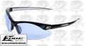Edge Eyewear DZ113 Zorge Safety Glasses - Black with Light Blue Lens