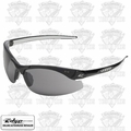 Edge Eyewear DZ116-2.0-G2 Zorge Safety Glasses - Black w/ Smoke Lens - 2x Mag