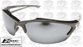 Edge Eyewear SDK117 Khor Safety Glasses Black with Silver Mirror Lens